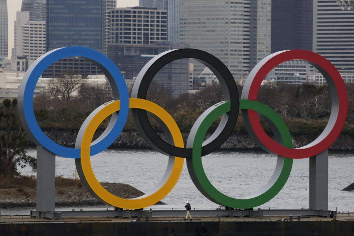 Llegan los anillos olímpicos a Tokio