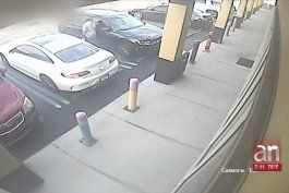 captado en camara quedo el momento en que un hombre roba una cartera de un auto en hialeah