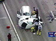 cerrada en ambos sentidos la autopista don shula expressway por accidente de trafico que dejo un muerto
