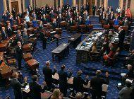para juicio a trump, senadores no podran hablar ni salir