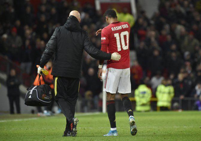 Rashford se agrava lesión en la espalda
