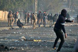tres muertos en protestas en bagdad