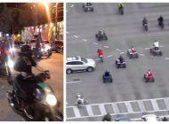 motoristas tomaron las calles de miami causando estragos