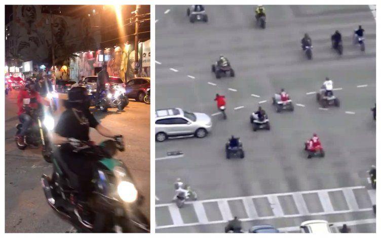 Decenas de motoristas tomaron las calles de Miami causando estragos