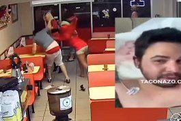 salen a la luz nuevas imagenes de brutal pelea entre dos hombre y dos transexuales