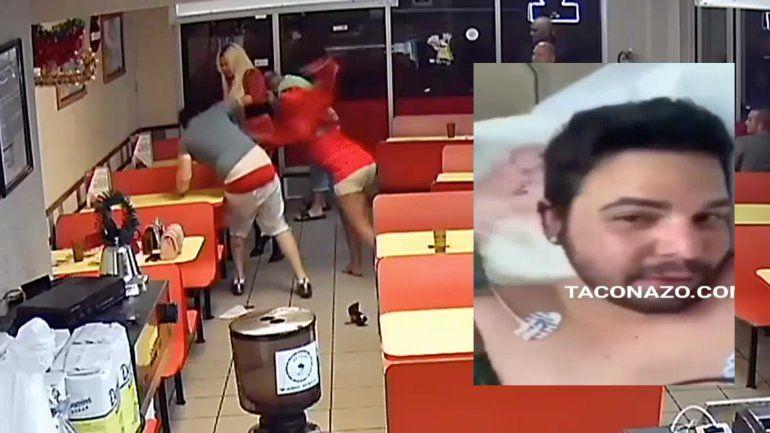 Salen a la luz nuevas imágenes de la brutal pelea entre dos hombre y dos transexuales en una pizzeria de Hialeah