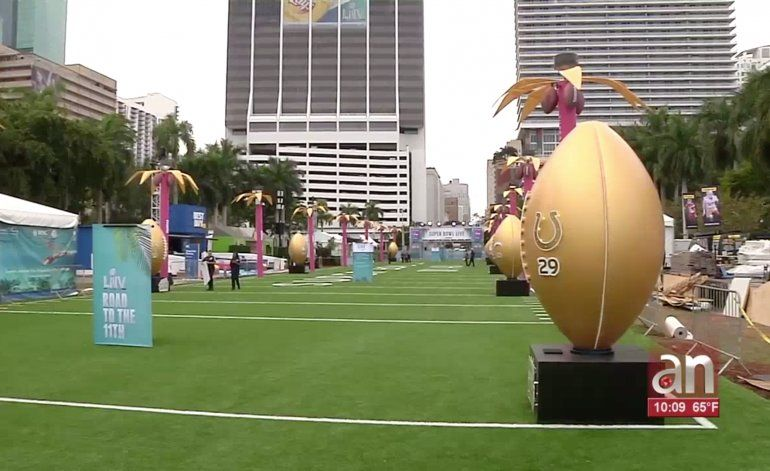 Miami se prepara para celebrar la semana del Super Bowl