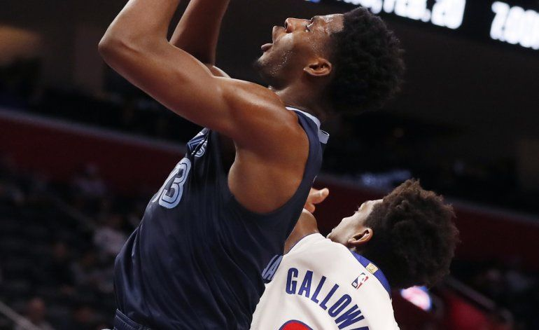 Grizzlies ganan 125-112 a Pistons con fuego de Jackson Jr.