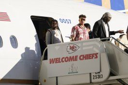 chiefs llegan a miami para la semana del super bowl