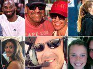 identificaron a todas las victimas que murieron en el helicoptero junto a kobe bryant