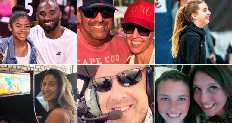 Identificaron a todas las víctimas que murieron en el helicóptero junto a Kobe Bryant