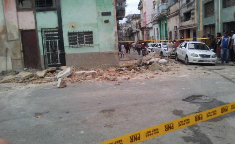 Mueren tres niñas tras derrumbe de balcón en La Habana Vieja