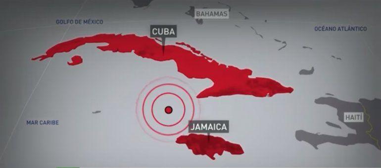 Sismo de magnitud 7,7 sacude las costas de Jamaica y Cuba