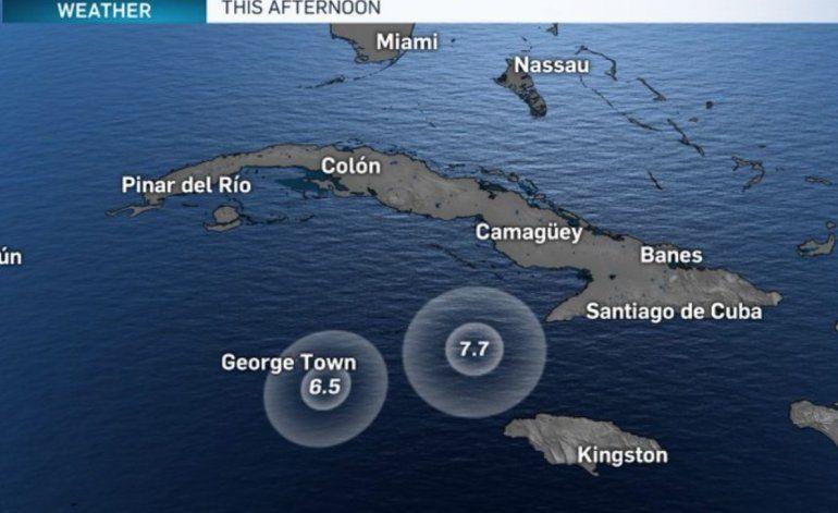 Una réplica de 6,5 se registra frente a las costas de las Islas Caimán en el Caribe