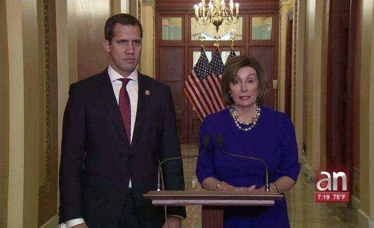 Juan Guaidó se reunió con Nancy Pelosi y Mike Pompeo