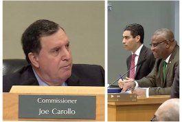 fuerte enfrentamiento verbal entre el alcalde suarez y el comisionado carollo