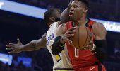 James Harden y Rockets arrollan 135-105 a Warriors