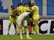 con gol de bamba, nantes supera 3-1 a marsella