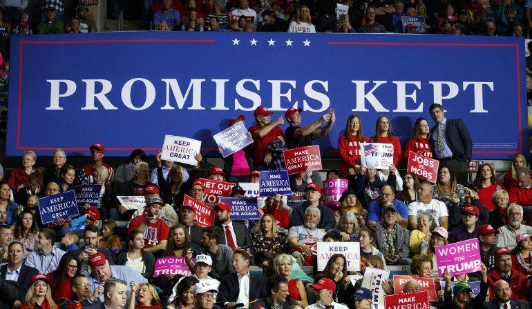 Promesas de Trump: Algunas se cumplieron, pero otras no