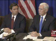 vicepresidente mike pence se reunio en palm beach con el gobernador ron desantis