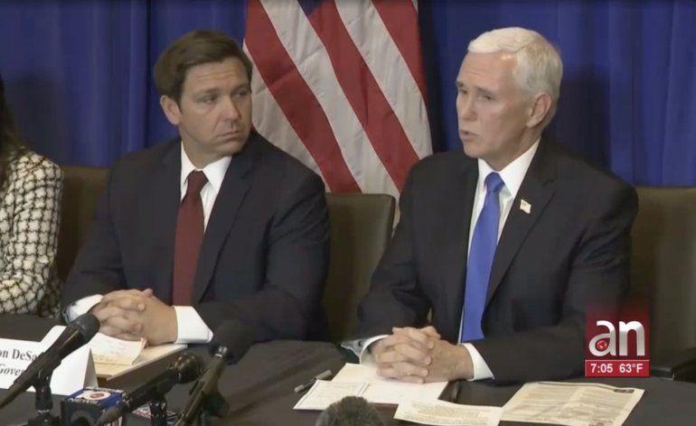 Vicepresidente Mike Pence se reunió en Palm Beach con el Gobernador Ron Desantis