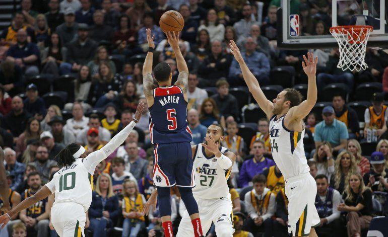 Jazz corta racha de 4 derrotas al vencer 129-119 a Wizards