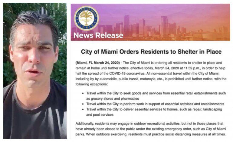 Ciudad de Miami impone ¨Toque de Queda¨ a todos sus residentes hasta nuevo aviso