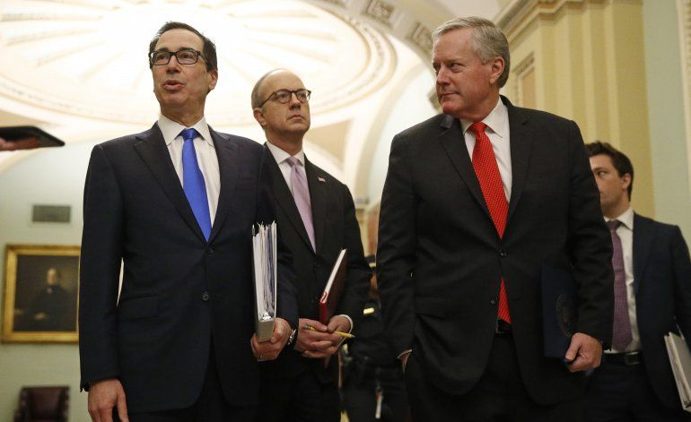 Senadores y Casa Blanca acuerdan un gran plan de rescate