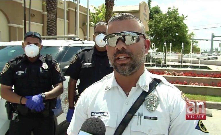 Cuerpos policiales de Miami listos para hacer cumplir la cuarentena obligatoria