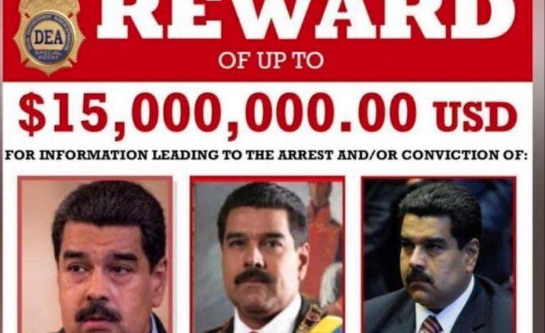 Estados Unidos ofreció una recompensa de 15 millones de dólares por la captura de Maduro y Cabello