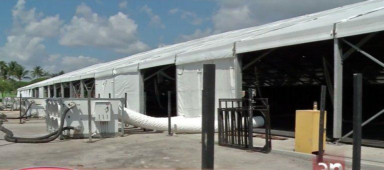 Terminado el primer hospital de campaña en el condado Miami-Dade