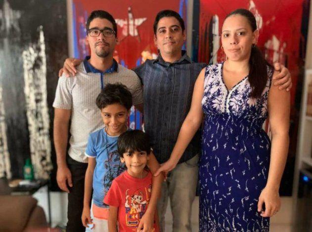 Carlos Amel Oliva miembro de la  UNPACU y su familia se exilian en EE.UU