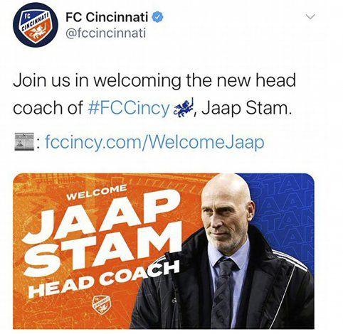 Cincinnati, de la MLS, tuitea foto equivocada de técnico
