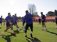 clubes espanoles entrenan con grupos de 14 jugadores