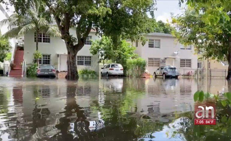 Las lluvias de las últimas 48 horas han convertido el sur de la Florida en una suerte de Venecia tropical