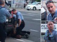 ee.uu.: arrestan al policia que presiono el cuello de george floyd con la rodilla