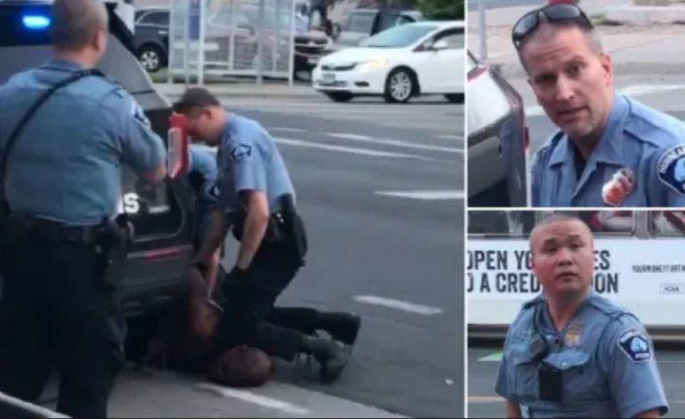 EE.UU.: Arrestan al policía que presionó el cuello de George Floyd con la rodilla