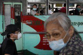 trafico en filipinas en la salida de cuarentena