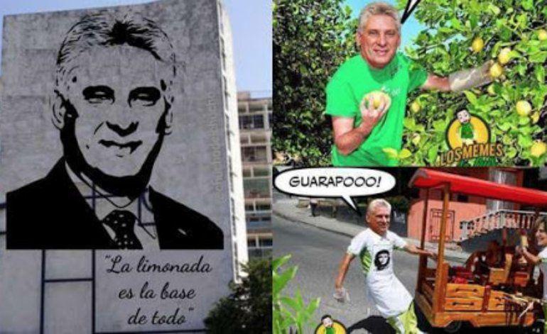 Piden en Cuba censurar a Díaz-Canel tras las burlas por la limonada