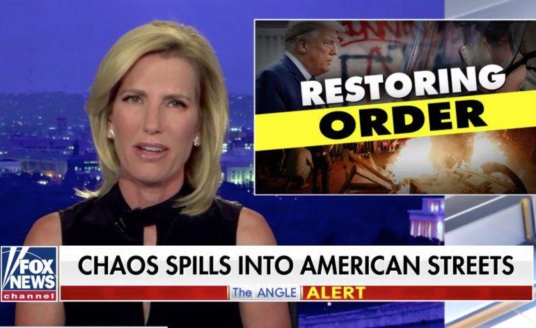 Una periodista de Fox News afirmó que los disturbios son esfuerzos coordinados para eventualmente derrocar al gobierno de Trump