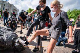 trump ordena arrestar a quienes vandalicen estatuas o monumentos
