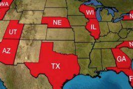 el aumento de casos de coronavirus en el pais mantiene en suspenso el plan de reapertura economica en al menos 16 estados