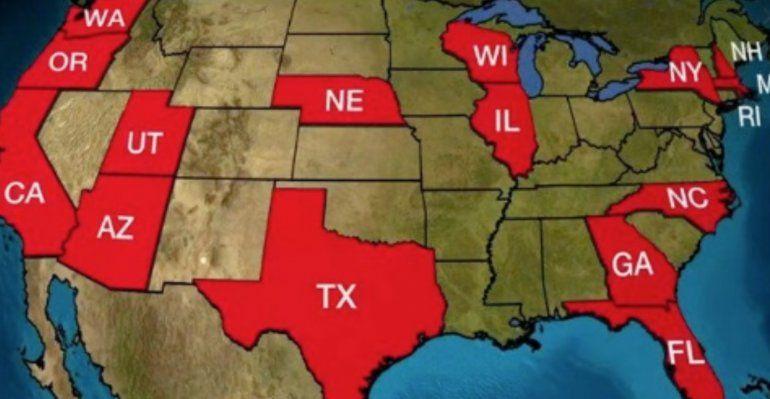 El aumento de casos de coronavirus en el país mantiene en suspenso el plan de reapertura económica en al menos 16 estados
