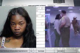 un policia de miami-dade fue despedido luego de golpear a una mujer en la cara en el aeropuerto internacional de miami