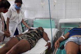 un muerto y 8 heridos en accidente de trafico en el centro de cuba