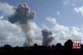 explosiones en unidad militar en holguin, continuaron por segundo dia consecutivo