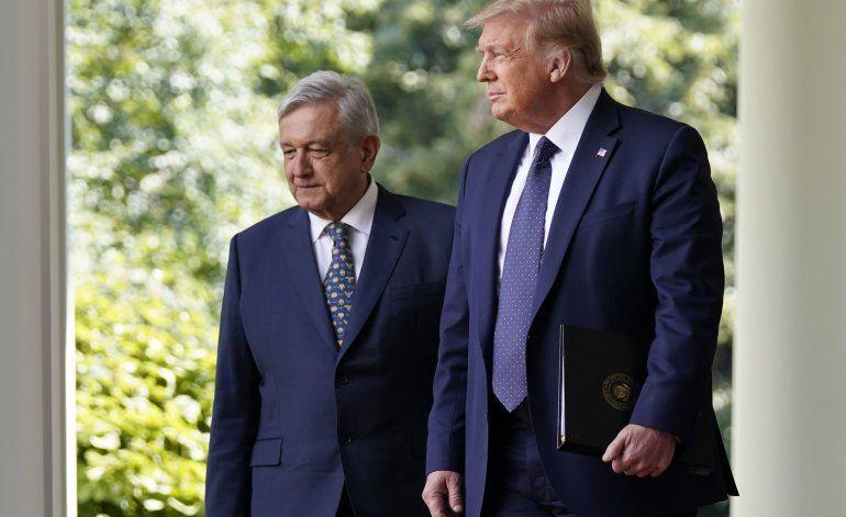 Trump y López Obrador evitan el tema del muro