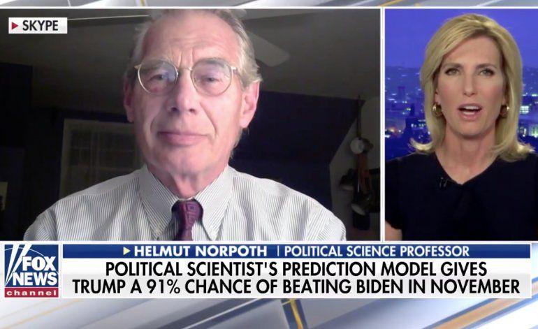 Trump tiene 91% de posibilidades de ganar las elecciones, según modelo de un profesor