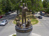 la estatua de arthur ashe seguira en avenida de richmond