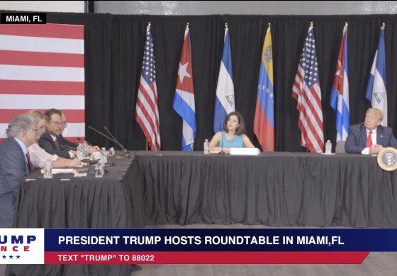 Trump promete mano dura contra el socialismo al reunirse con el exilio cubano y venezolano